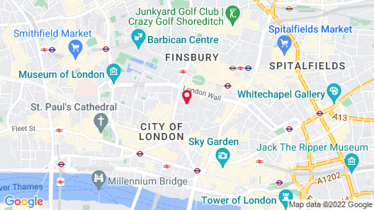 Apex London Wall Hotel Map