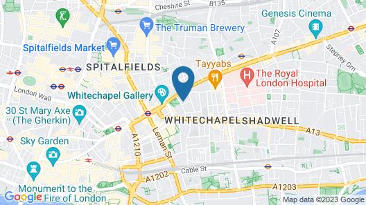 Qbic Hotel London City Map