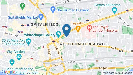 The Corner London City Map