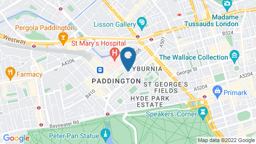Norfolk Towers Paddington Hotel Map