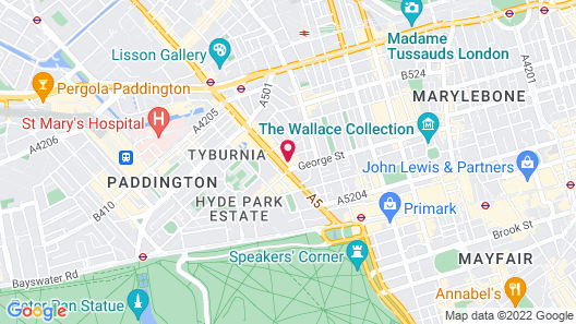 London Marriott Hotel Marble Arch Map