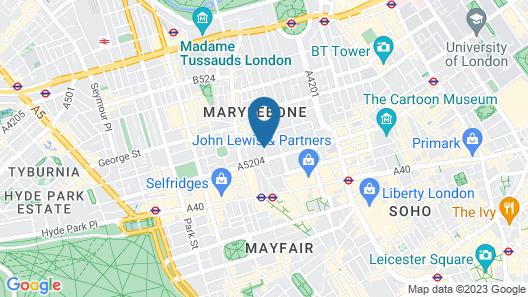 Holiday Inn London - Oxford Circus Map