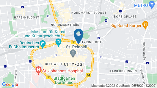 TOP Hotel Esplanade Dortmund Map