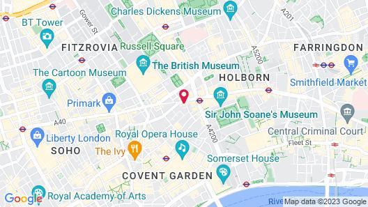 The Hoxton Holborn Map