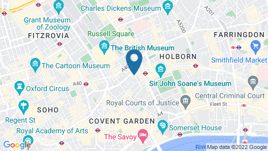 The Hoxton Holborn Map