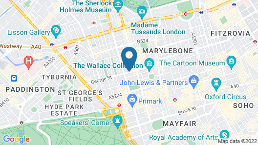 Presidential Serviced Apartments Marylebone Map