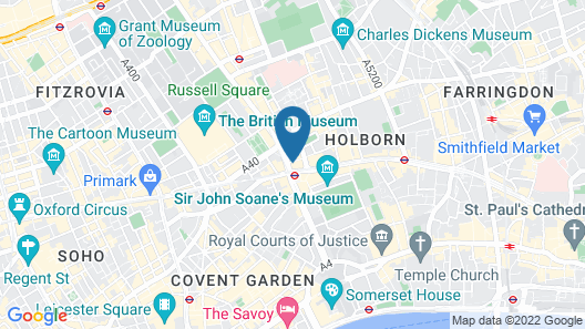 L'oscar London Map