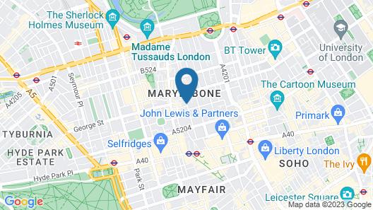 The Marylebone Hotel Map