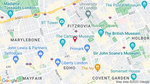 Charlotte Street Hotel, Firmdale Hotels Map