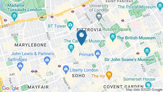 The Rathbone Hotel, Fitzrovia Map