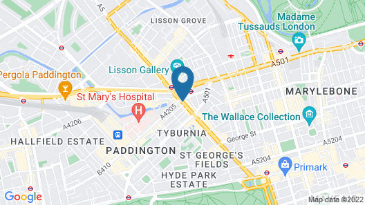 London Kings Hotel Map