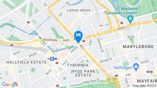 Hilton London Metropole Map