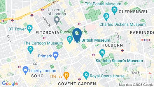 Astor Museum Inn Hostel Map