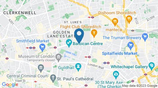 Barbican Rooms Map