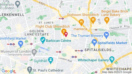 Montcalm Royal London House - City Of London Map