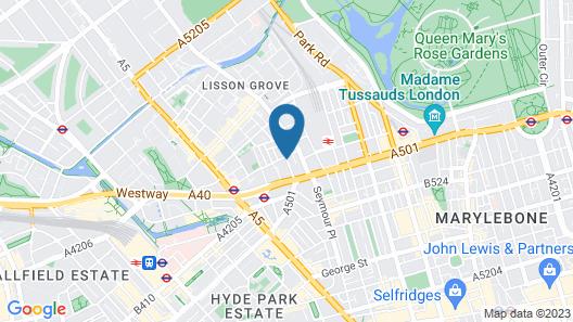 Marylebone Apartments Map