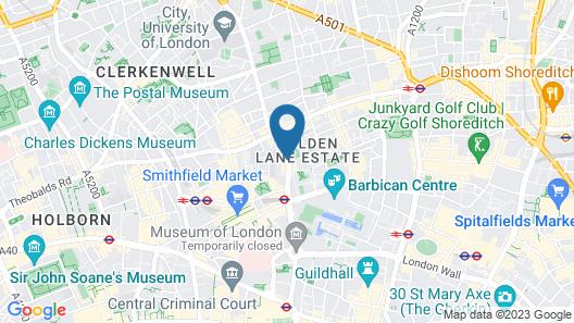 Citadines Barbican London Map