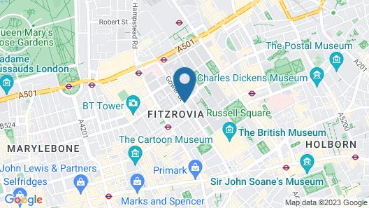 Arosfa Hotel London by Compass Hospitality Map