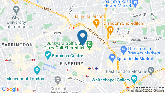 Point A Hotel London Shoreditch Map