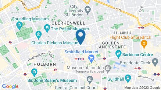 Yotel London City Map