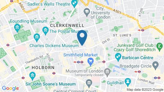 The Zetter Townhouse Clerkenwell Map