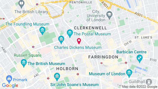 The Rosebery by Supercity Aparthotels Map