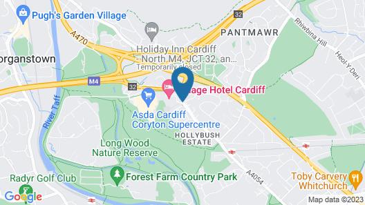 Village Hotel Cardiff Map