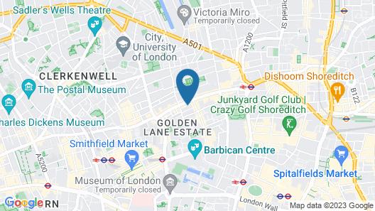 easyHotel London City Shoreditch Map