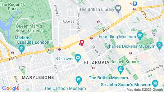 Radisson Blu Edwardian Grafton Hotel, London Map