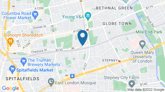 Hashtag Bethnal Green Campus Accommodation Map