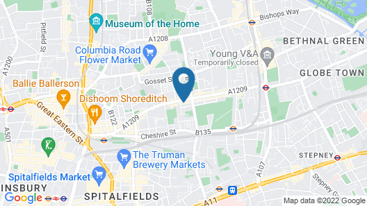 London Apartments Shoreditch Two Map