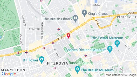 Ambassadors Bloomsbury Map