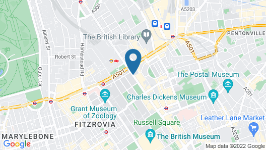 Hilton London Euston Map