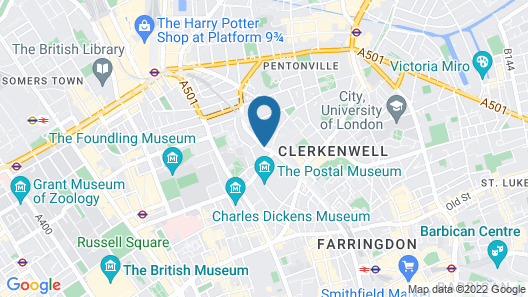 Crowne Plaza London - Kings Cross Map