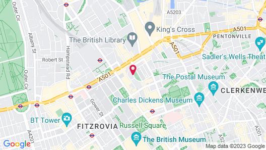 Studios 2 Let Serviced Apartments - Cartwright Gardens Map