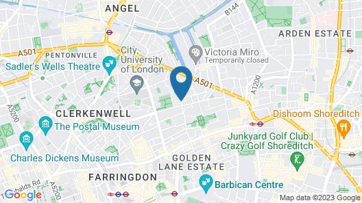 Thistle Barbican Shoreditch Map