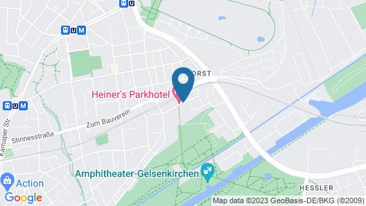 Heiner's Parkhotel Map