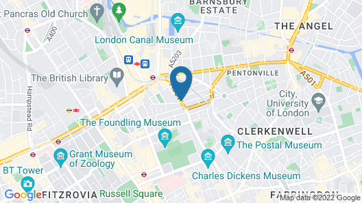 Point A Hotel London Kings Cross – St Pancras Map