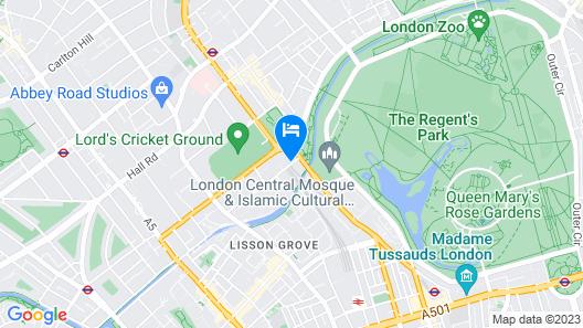 Danubius Hotel Regents Park Map