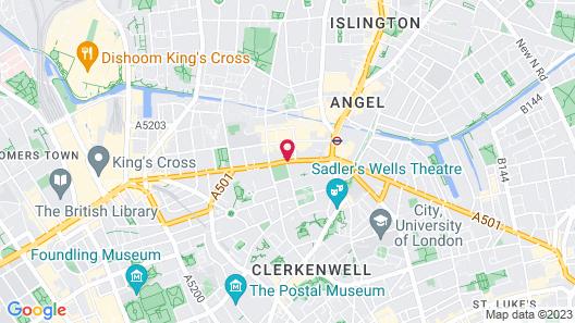 DoubleTree by Hilton London Angel Kings Cross Map