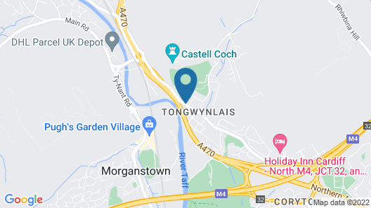 Tongwynlais Cottage by Cardiff Holiday Homes Map