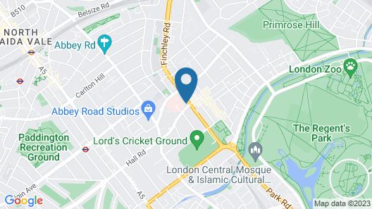 Wellington Court st John Wood Map