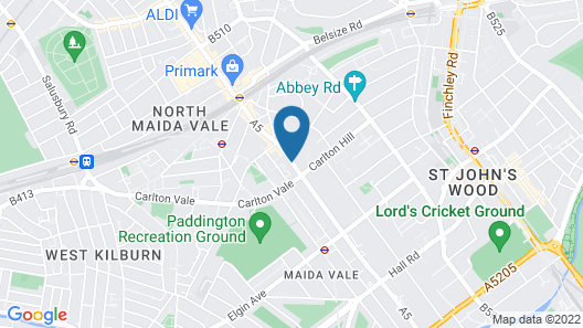 The New London Carlton Hotel & Service Apartments Map