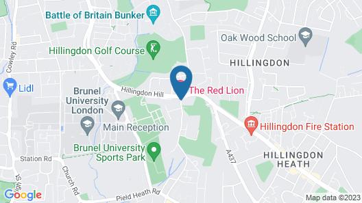 Red Lion Hotel, Hillingdon Map