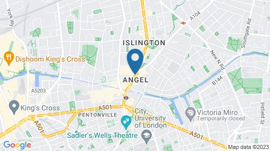 Hilton London Angel Islington Map