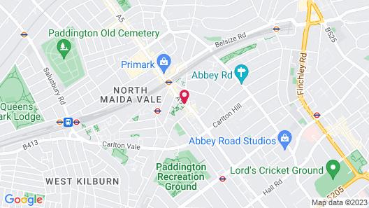 London Marriott Hotel Maida Vale Map