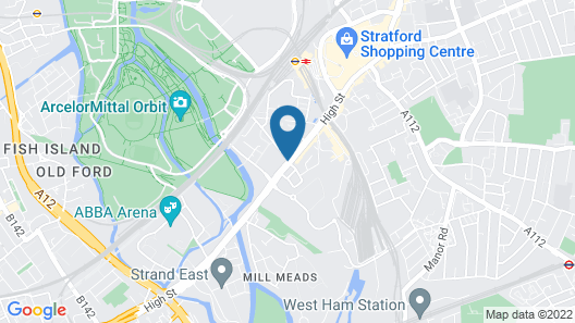 Holiday Inn Express London - Stratford Map