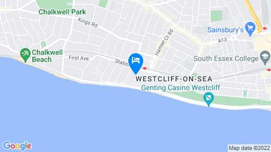 OYO Devine Beach Hotel Map