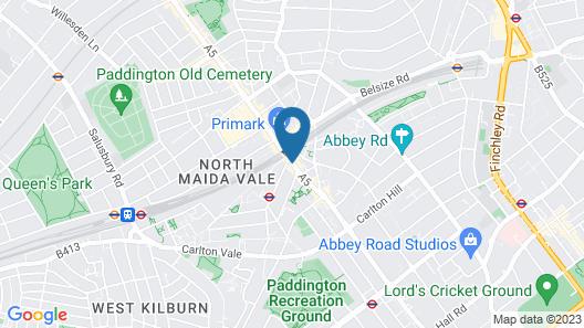 Maitrise Hotel Maida Vale Map