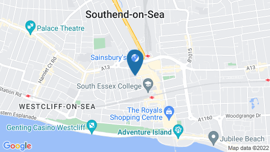 University of Essex, Southend Campus Map
